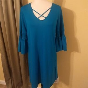a.n.a. flowy sleeve pullover dress sz small EUC